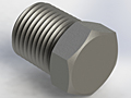 Miniature Stainless Steel Fittings  NPT Pipe Plug, External Hex