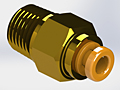 "Precision Metal Orifices Push-On Tube Adapters, 1/8"" NPT x Tube"